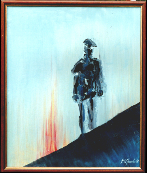man_in_fire_oil_on_canvasboard